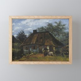 Vincent van Gogh - Farmhouse in Nuenen (1885) Framed Mini Art Print
