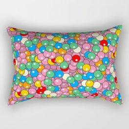 Bubble Gum Balls Juicy Tropical Fruity Rectangular Pillow