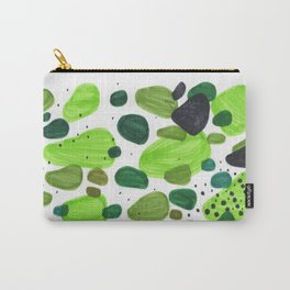 Minimalist Abstract Midcentury Modern Colorful Natural Green Organic Shapes Carry-All Pouch