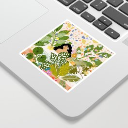 Bathing with Plants Sticker