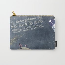Men walk on Moon Astronauts Carry-All Pouch