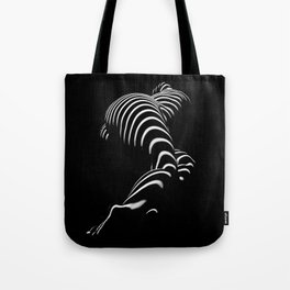 0774-AR BBW Sensual Legs Hips and Ass of a Large Woman Big Beautiful Art Nude Black and White Tote Bag