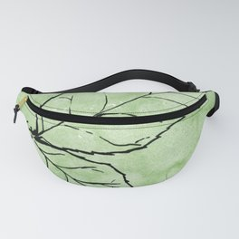 Two Leaves on Green Fanny Pack