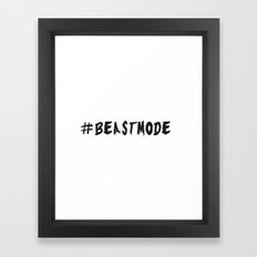 # BEASTMODE - Motivation Framed Art Print