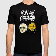 Run The Country X-LARGE Black Mens Fitted Tee
