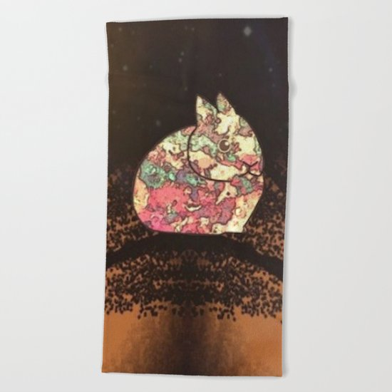 rabbit-237 Beach Towel