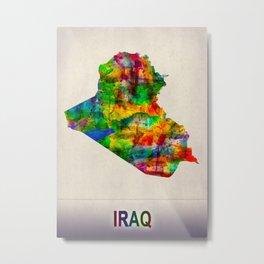 Iraq Map in Watercolor Metal Print
