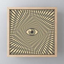 Black eye of providence Framed Mini Art Print