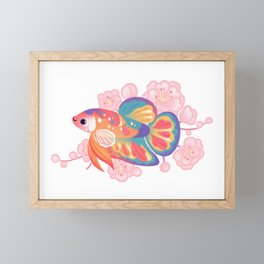 Koi betta Framed Mini Art Print