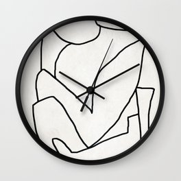 Abstract line art 2 Wall Clock
