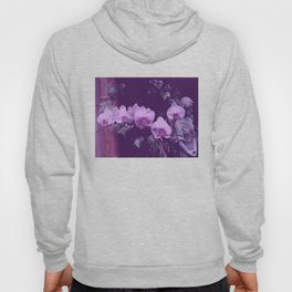 Orchids in a garden with a statue Hoody