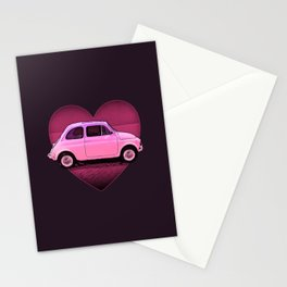 The Neon PInk 500 Car Lover Stationery Cards