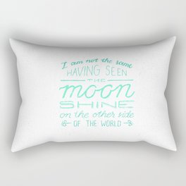 moon quote Rectangular Pillow