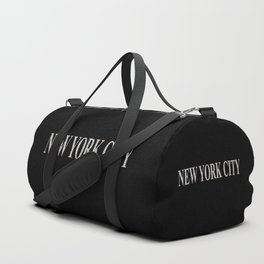 New York City (type in type on black) Duffle Bag
