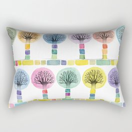 watercolor trees Rectangular Pillow