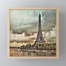 Toony Travel - Paris Framed Mini Art Print