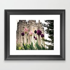 Temple Flowers Framed Art Print
