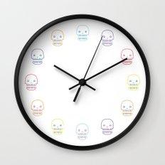 robo skull Wall Clock