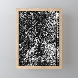 Frottage Lace Framed Mini Art Print