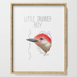 Little Drummer Boy (Red-bellied Woodpecker) Serving Tray