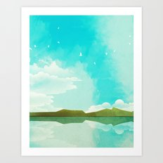 Warm Blue Sky Art Print