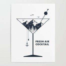 Fresh Air Cocktail Poster