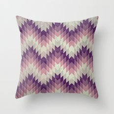Chevron pattern_Pink Throw Pillow
