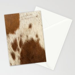 Pattern of a Longhorn bull cowhide. Stationery Cards
