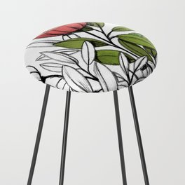 First summer blooms Counter Stool