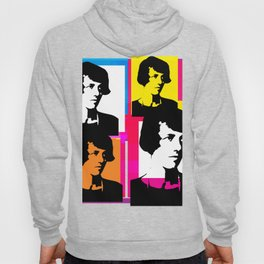 YOUNG ENID BLYTON, ENGLISH CHILDRENS NOVELIST, POP ART STYLE COLLAGE Hoody