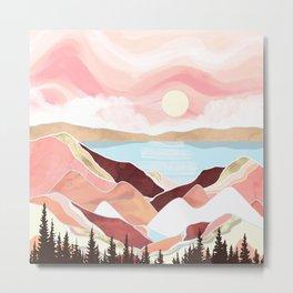 Autumn Lake Sunrise Metal Print