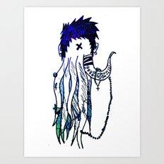 Tentacle X Art Print