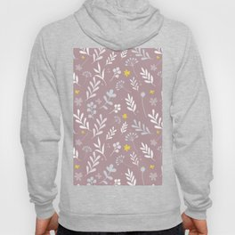 Floral Pattern 1 - PINK BACKGROUND Hoody