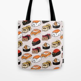 Sushi Persian Cat Tote Bag