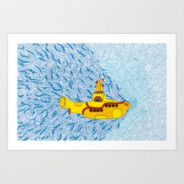 My Yellow Submarine Kunstdrucke