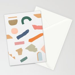 Mix of color shapes happy artwork Stationery Cards