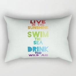 Live in the Sunshine Rectangular Pillow