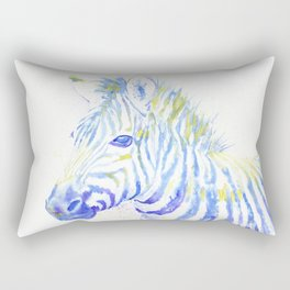 Quiet Zebra Rectangular Pillow