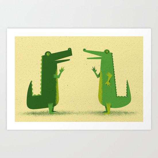 Later Gators Art Print
