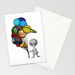 Casual Alien Stationery Cards