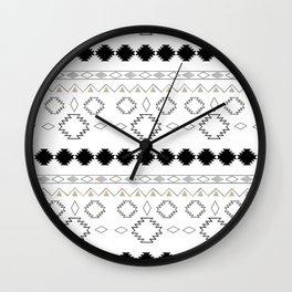 Tribal Boho Pattern Chic #1 #aztec #decor #art #society6 Wall Clock