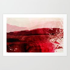 Dreaming of red Art Print