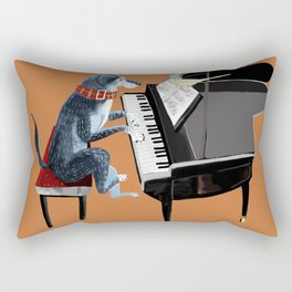 Piano lesson with Angel Rectangular Pillow