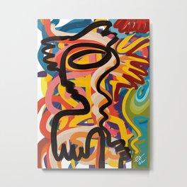 Urban Art Graffiti Tribal Man  Metal Print