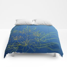 Day Lily Blue Comforters