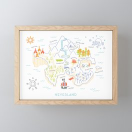Neverland Map Color Framed Mini Art Print