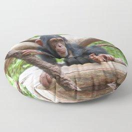 Chimpanzee_20150503_by_JAMFoto Floor Pillow