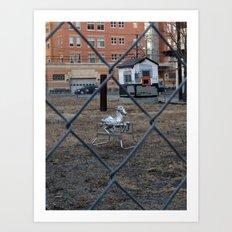 The Silver Hobby Horse 2 Art Print