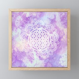 Flower Of Life (Soft Lavenders) Framed Mini Art Print