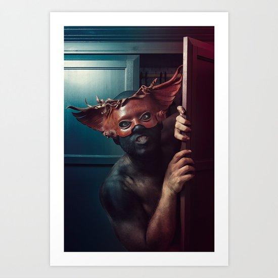"""At Night He Comes..."" Art Print"